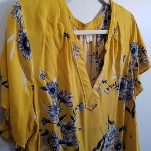 Womens Old Navy, yellow, blouse - XL